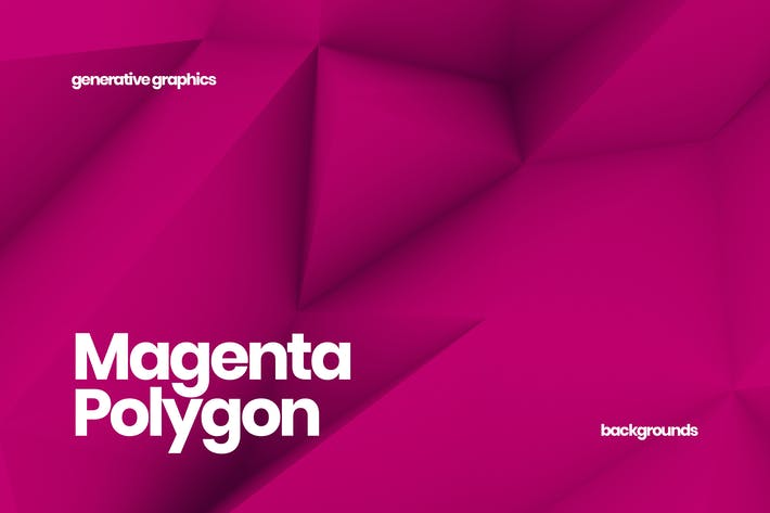 Cover Image For Magenta Polygon Backgrounds