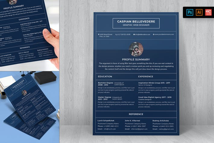 Thumbnail for Resume CV Template-31