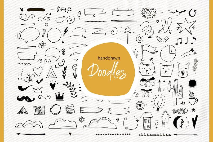 Handdrawn doodle elements