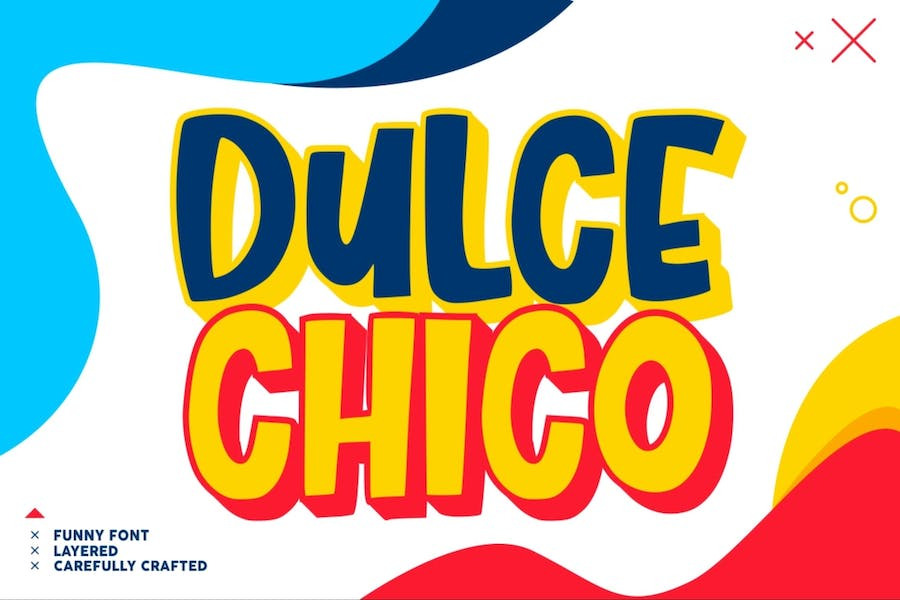 Dulce Chico - a Display & Playful Fonts