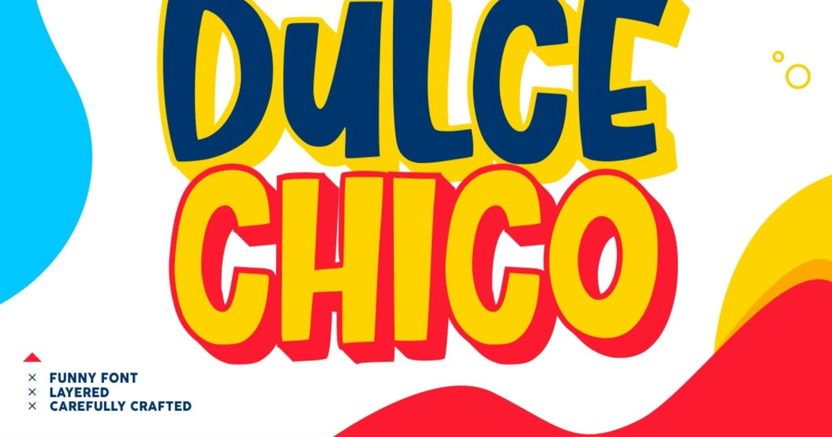 Download Dulce Chico - a Display & Playful Fonts by garisman