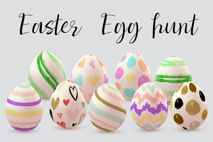 Cover Image For Set of Decorative Easter Eggs