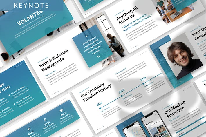 Thumbnail for Volantes - Business Keynote Template