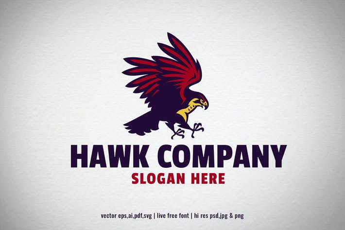 Thumbnail for hawk bird logo