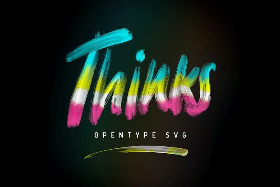 Thinks Opentype SVG
