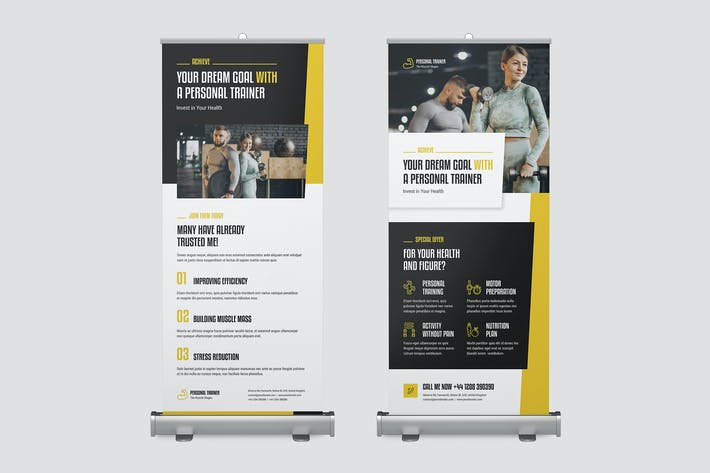 Roll Up Banner – Personal Trainer