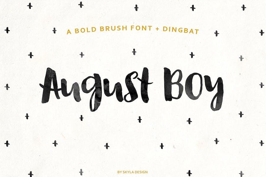 August Boy Bold pinceau police + Dingbat
