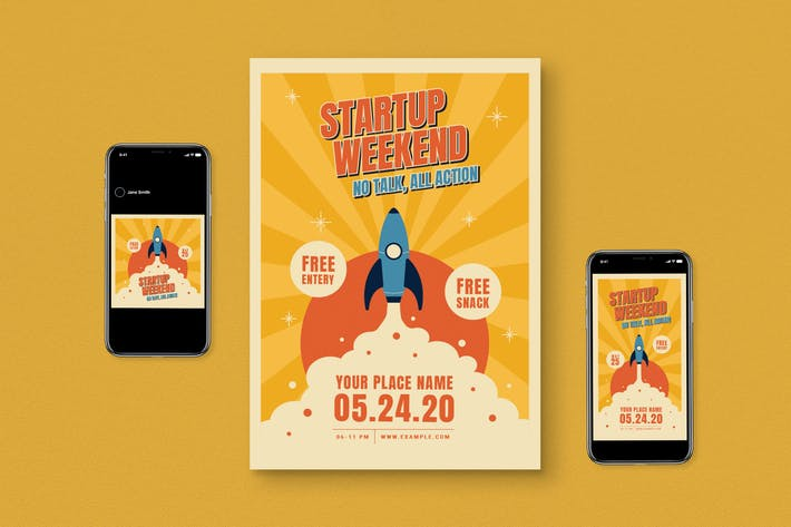 Thumbnail for Startup Weekend Flyer Pack