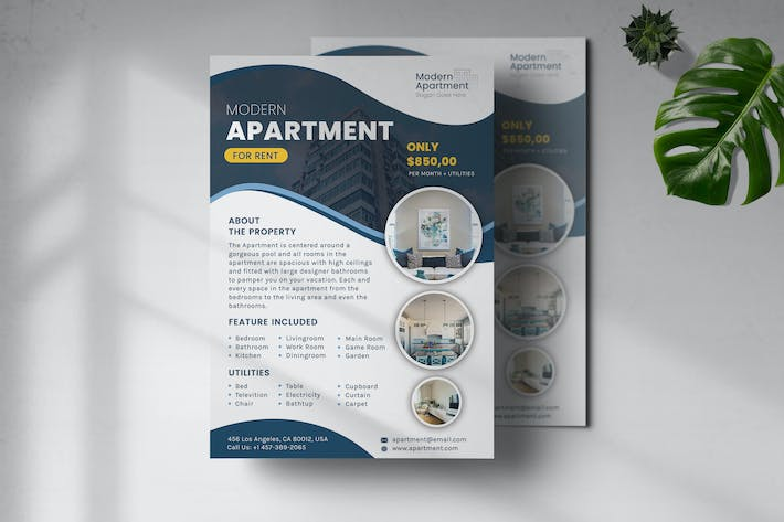Thumbnail for Modern Apartment Flyer Template