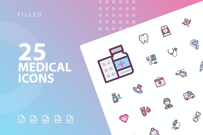 Thumbnail for Medical Filled Icons