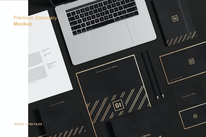Thumbnail for Premium Stationery Mockup