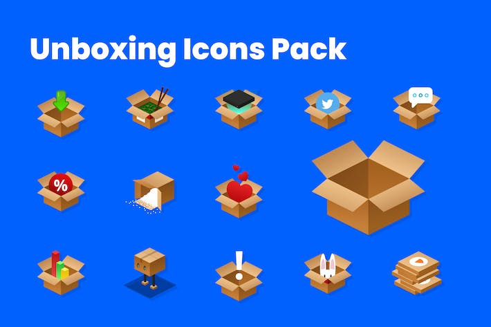 Unboxing Icons Pack