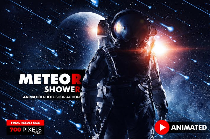 Thumbnail for Animated Meteor Shower Photoshop Action
