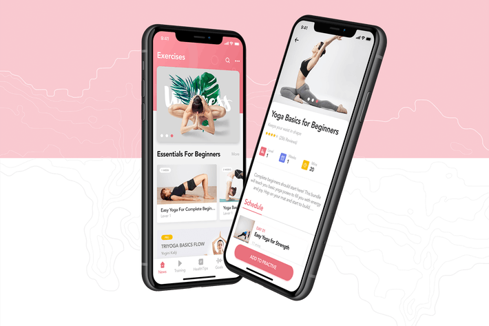 Thumbnail for Yoga Fitness App Concept