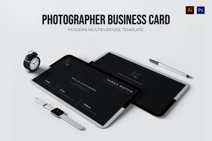 Thumbnail for Photographer - Business Card