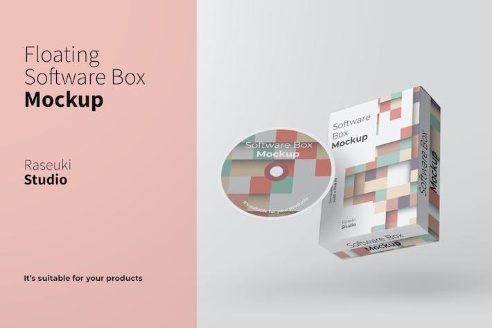 Thumbnail for Floating Software Box Mockup