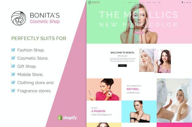Bonita | Cosmetics, Salon Shopify Theme
