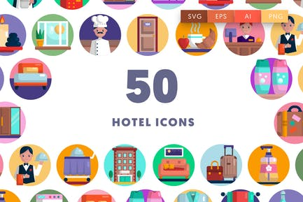 50 Hotel Icons