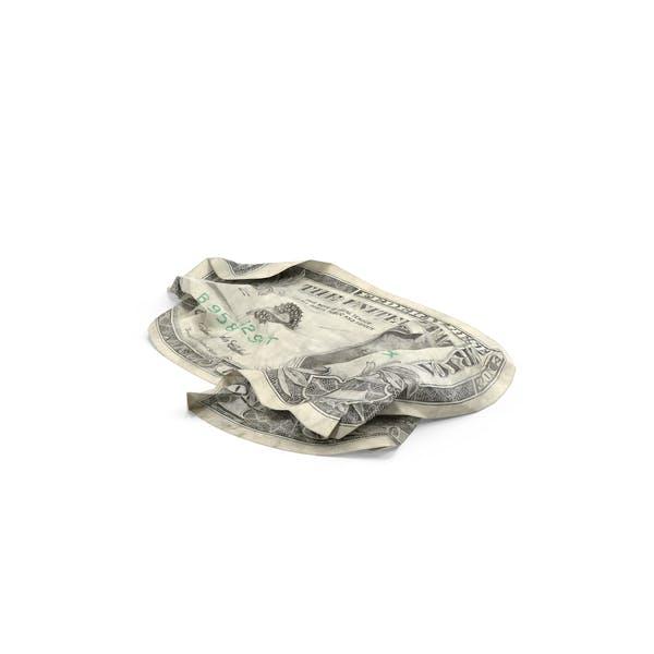 1 Dollar Bill Crumpled