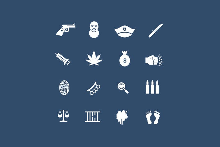 Cover Image For 16 Crime Icons