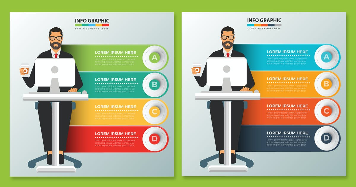 Download Working man Infographics design by mamanamsai
