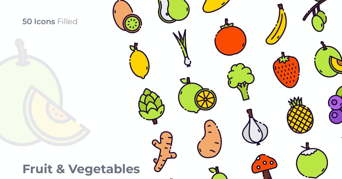 Download Fruit & Vegetables Filled Icon by GoodWare_Std