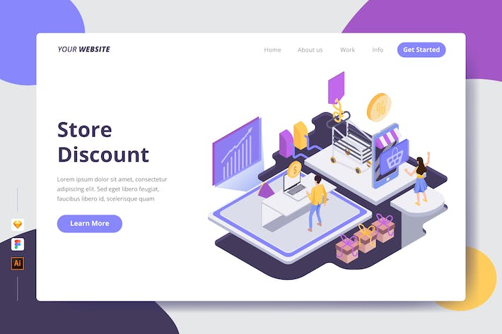 Thumbnail for Store Discount - Landing Page