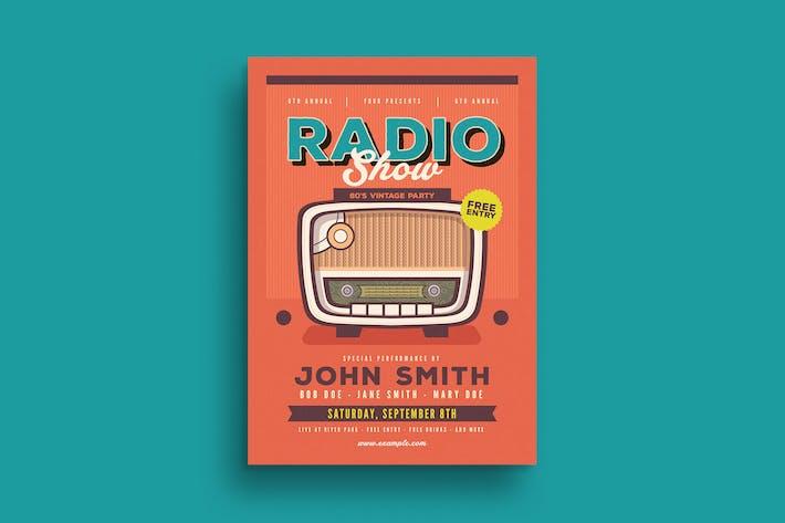Thumbnail for Retro Radio Event Flyer