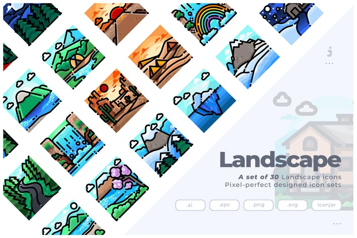Thumbnail for 30 Landscape Icons