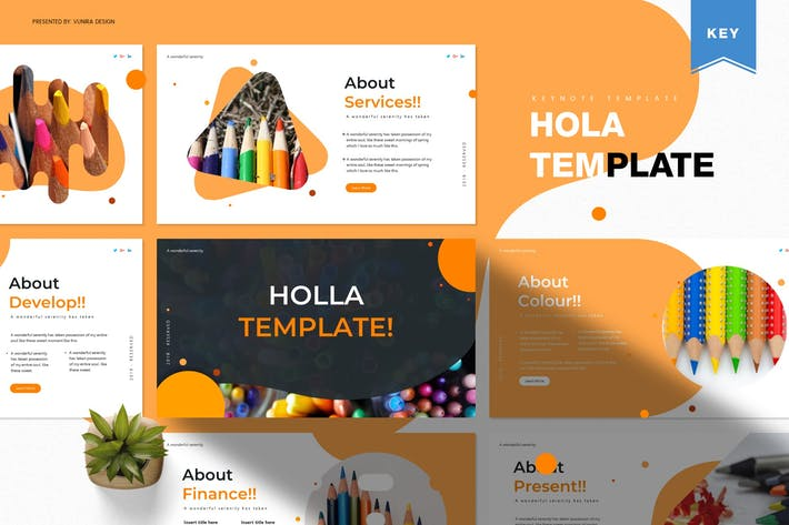 Thumbnail for Holla | Keynote Template