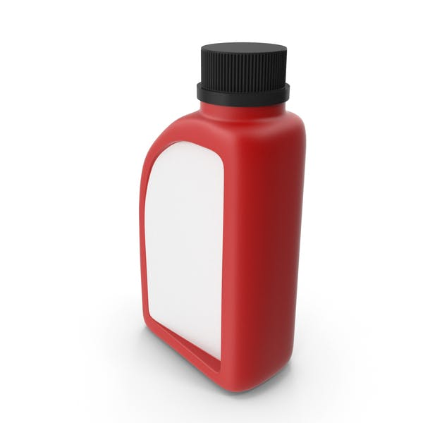 Red Plastic Jerrycan with Black Cap