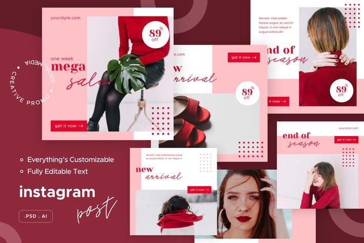 Thumbnail for Fashionista - Instagram Post - Social Media Kit