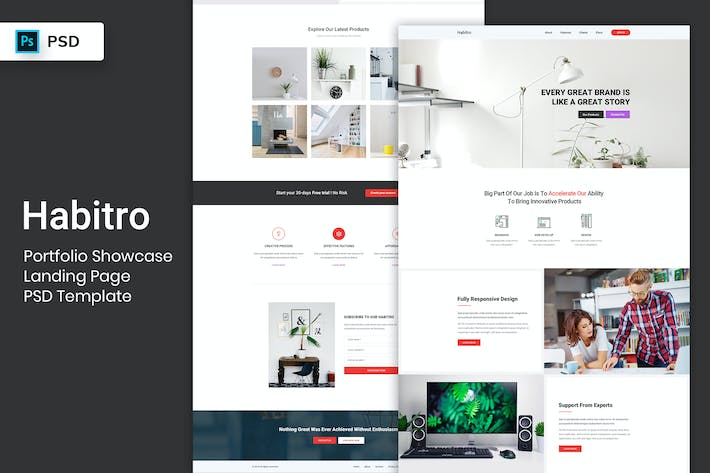 Thumbnail for Portfolio Showcase - Landing Page PSD Template