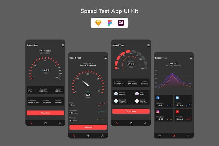 Speed Test App UI Kit