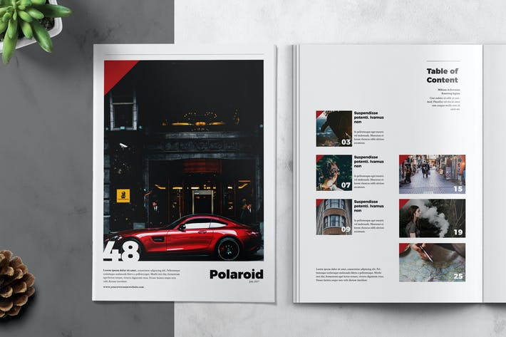 Thumbnail for POLAROID - Magazine Template