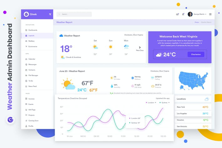 Thumbnail for Weather Admin Dashboard UI Kit