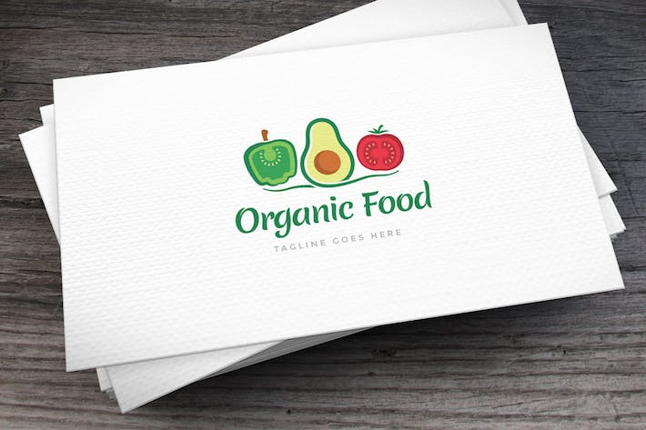 Thumbnail for Organic Food Logo Template