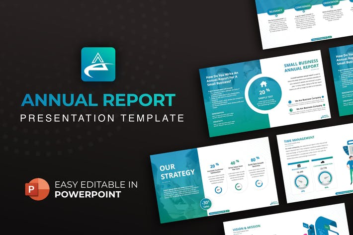 Thumbnail for Annual Report Presentation Template