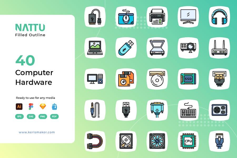 Nattu - Computer Hardware Icons