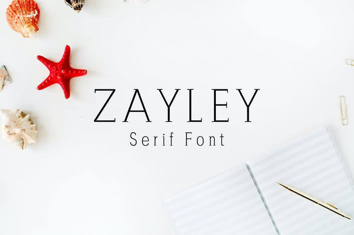Thumbnail for Zayley Serif Regular Font