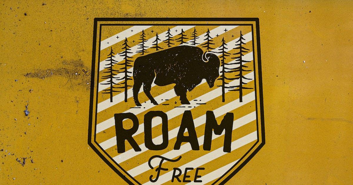 Download Retro Camp T-Shirt Design, Logo Adventure Quote by JeksonJS