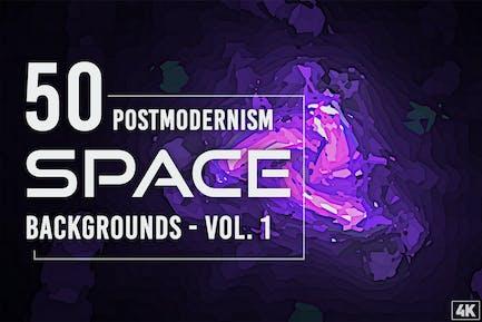 50 Postmodernism Weltraum-Hintergründe - Band 1
