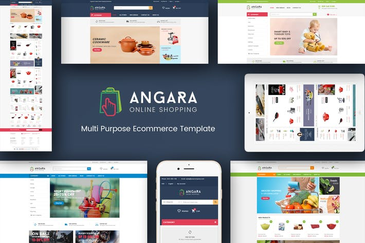 Cover Image For Angara - Responsive Magento Theme
