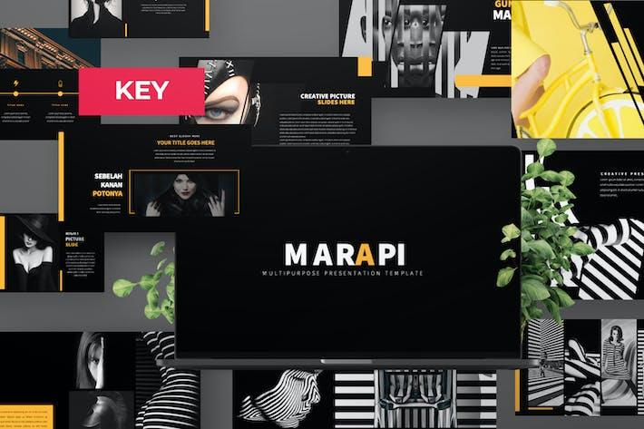 Thumbnail for Marapi Pitch Deck Black Keynote Presentation