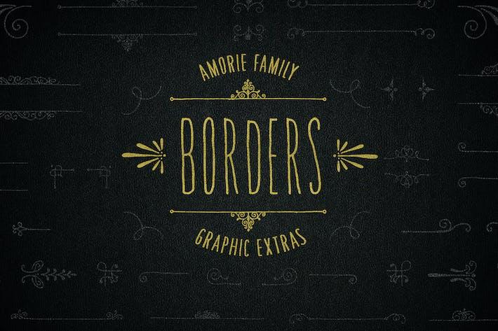 Thumbnail for Border Graphics - Amorie Font Family