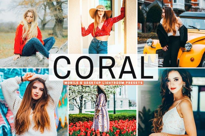 Coral Mobile & Desktop Lightroom Presets