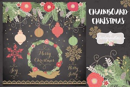 Chalkboard christmas cliparts