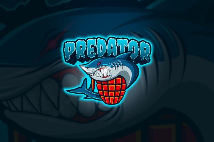 Thumbnail for Shark Predator - Mascot & Esport Logo