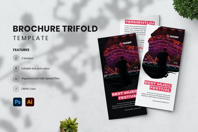 Brochure Trifold - Dugem 1