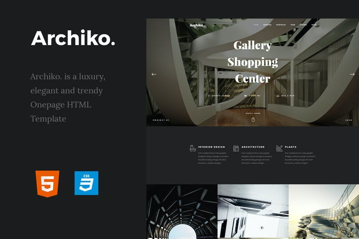 Thumbnail for Archiko. - Architecture Onepage HTML Template